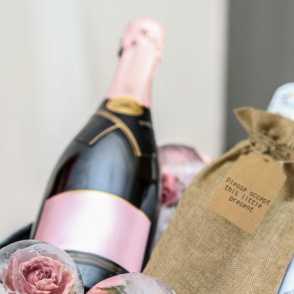 Bolsa de yute y arpillera para botella de vino