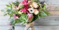 flores de arpillera