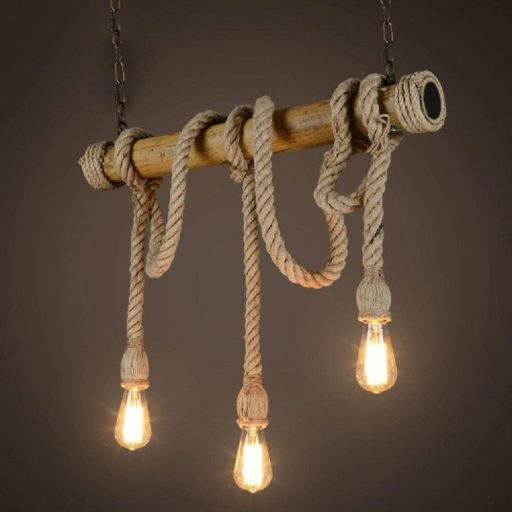 lamparas de yute